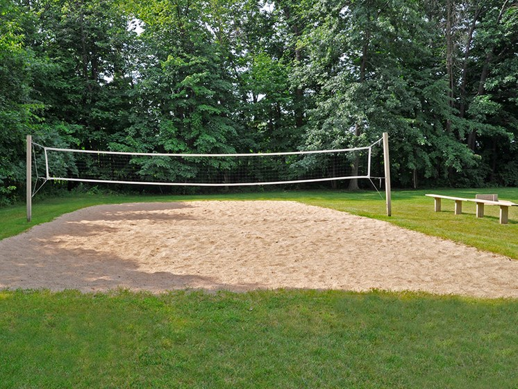 Sand Volleyball Court at Tanglewood Apartments, Wisconsin