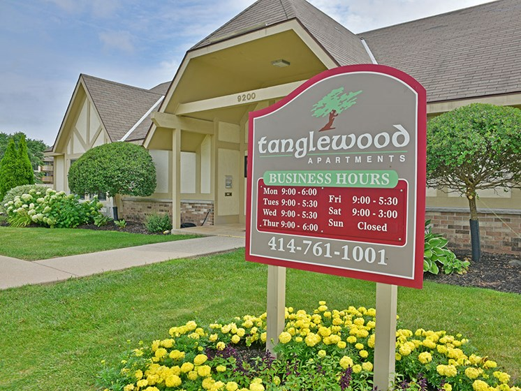 Leasing Office at Tanglewood Apartments, Oak Creek, Wisconsin