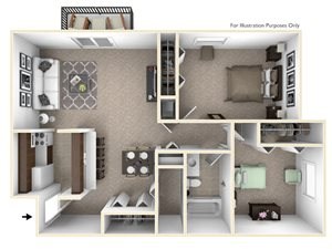 2-Bed/1-Bath, Iris View
