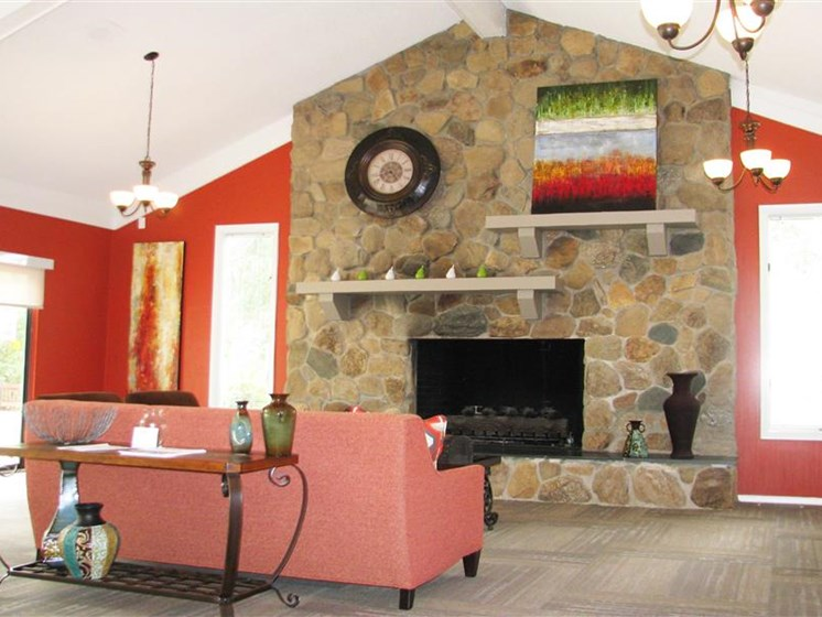 Clubhouse with Fireplace at Brook Pines, Columbia, SC