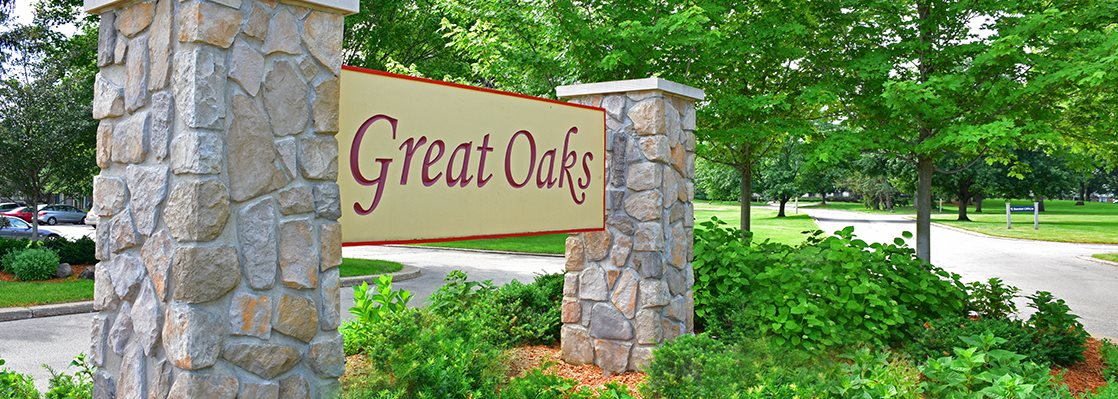 Entry Signage at Great Oaks Apartments, Rockford, IL, 61109