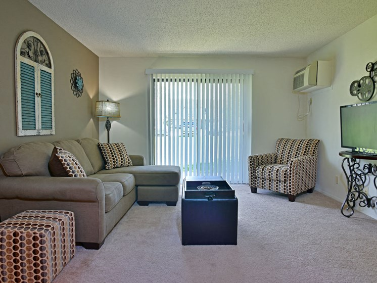 Oversized Living Room at Great Oaks Apartments, Illinois, 61109