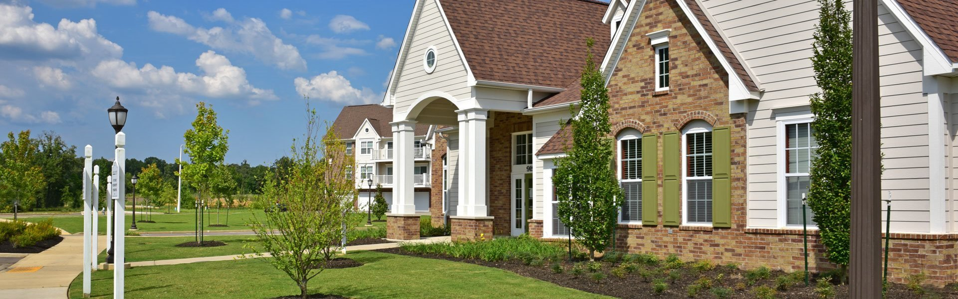 Large Private Patios at Irene Woods Apartments, Collierville, Tennessee
