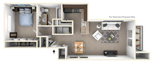 1-Bed/1-Bath, Coneflower