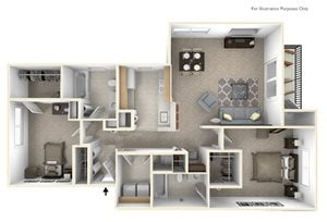 2-Bed/2-Bath, Passion Flower