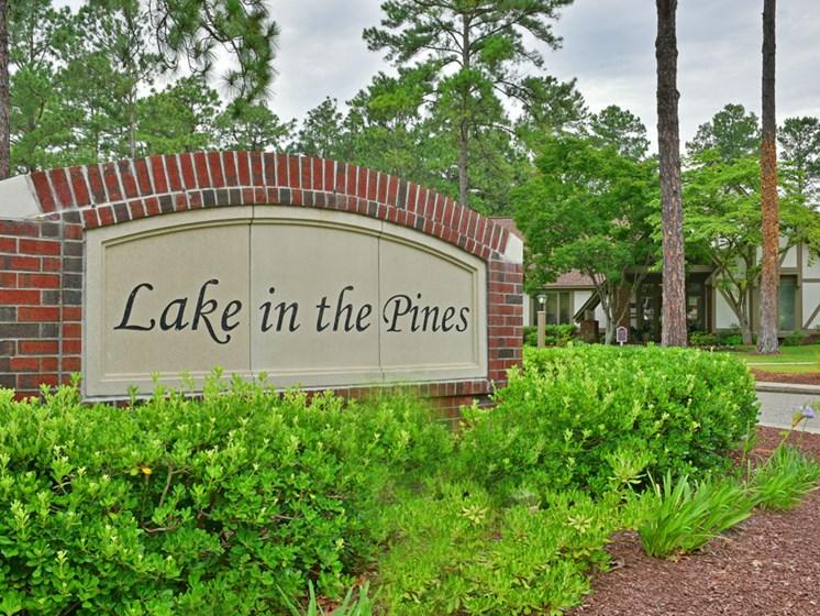 Entrance Sign at Lake in the Pines, North Carolina, 28311