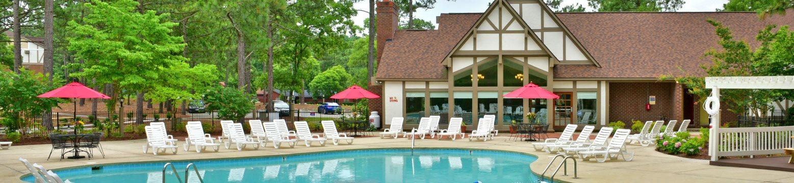 Resort Inspired Pool at Lake in the Pines, North Carolina