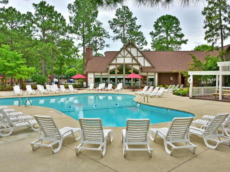 Pool deck at Lake in the Pines, Fayetteville