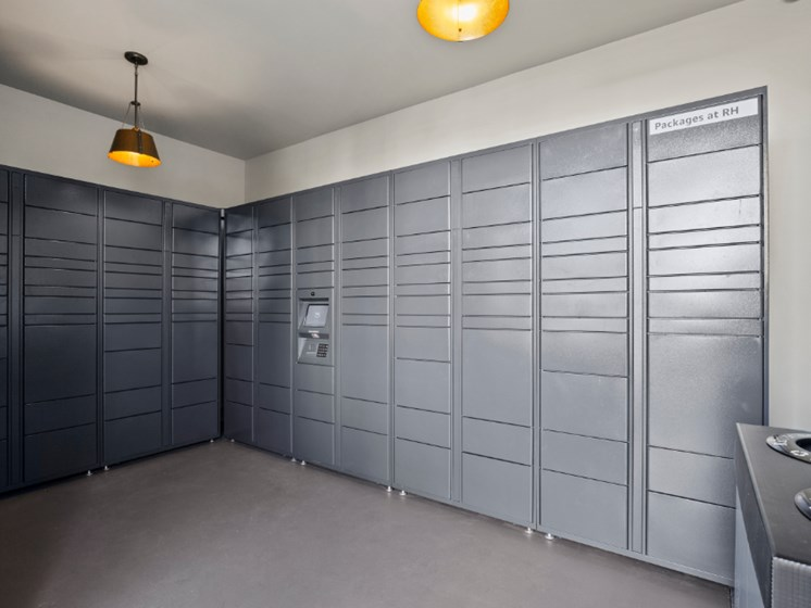 The Hub by Amazon package locker system
