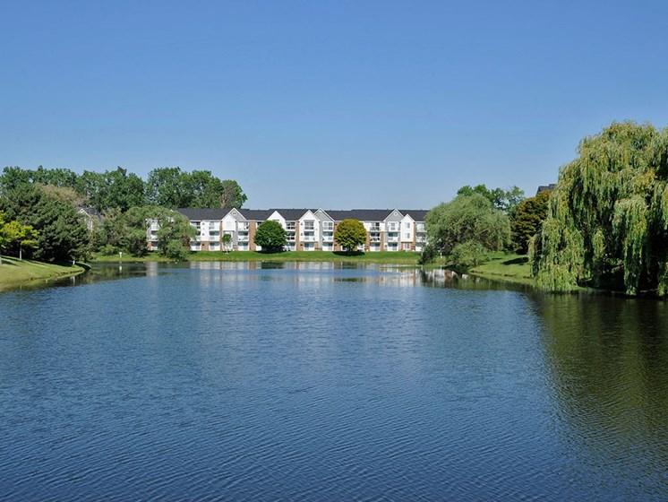 Large Lake Within Community at The Landings, Westland, MI, 48185