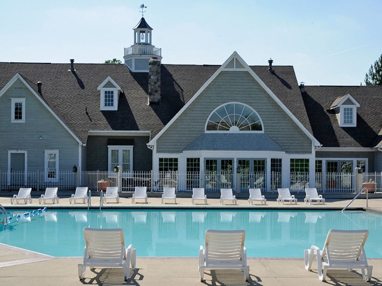 Swimming Pool and Sundeck at The Landings, Westland, MI
