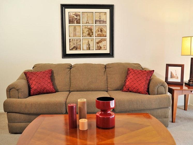 Living Room at The Landings, Westland, MI, 48185