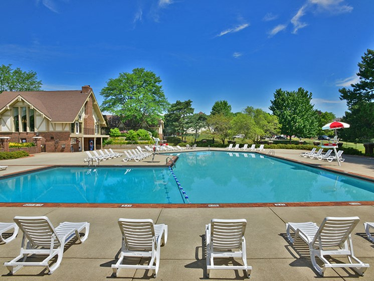 Multiple Sundeck Areas at The Village Apartments, Wixom, Michigan