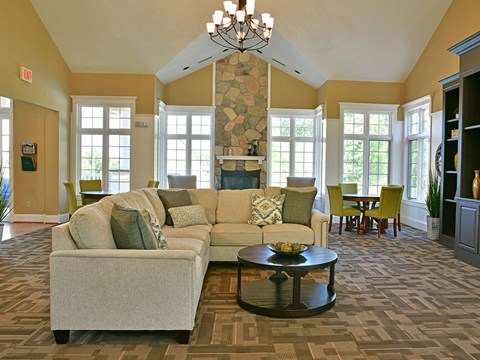 Clubhouse Seating at Timberlane Apartments, Peoria, IL, 61615