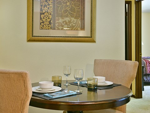 Defined Dining Space at Timberlane Apartments, Peoria, IL, 61615