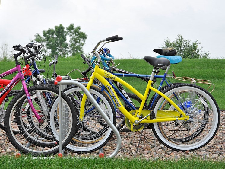 Bike Racks at Towne Lakes Apartments, Wisconsin