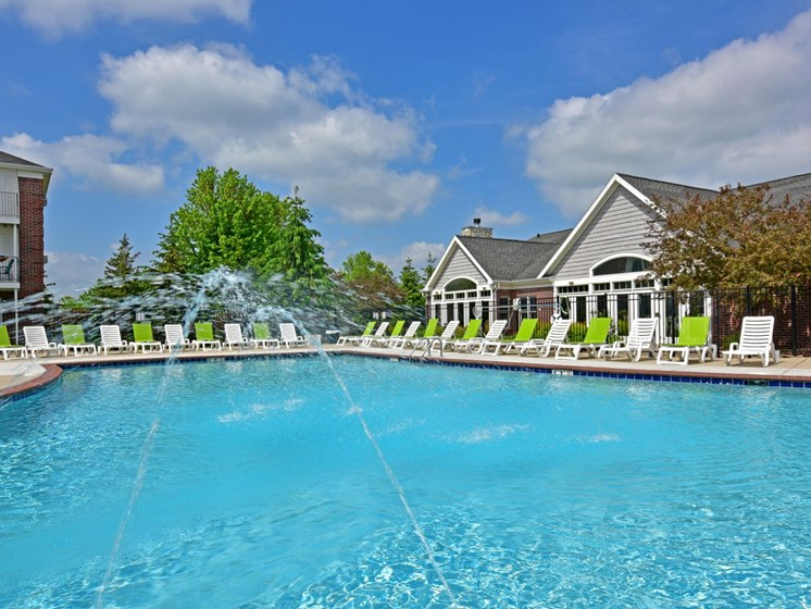 Outdoor Pool at Towne Lakes Apartments, Grand Chute, WI