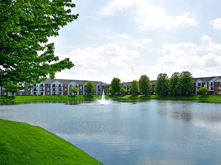 Lake Views and Fountain at Towne Lakes Apartments, WI 54913