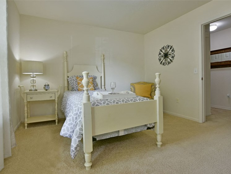 Bedroom with Walk-In Closet at Towne Lakes Apartments, 54913