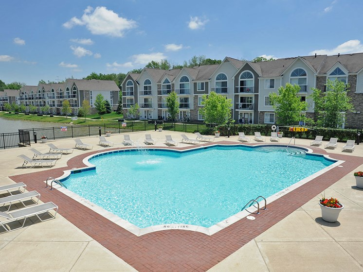 Swimming Pool and Sundeck at Westlake Apartments, Belleville, 48111