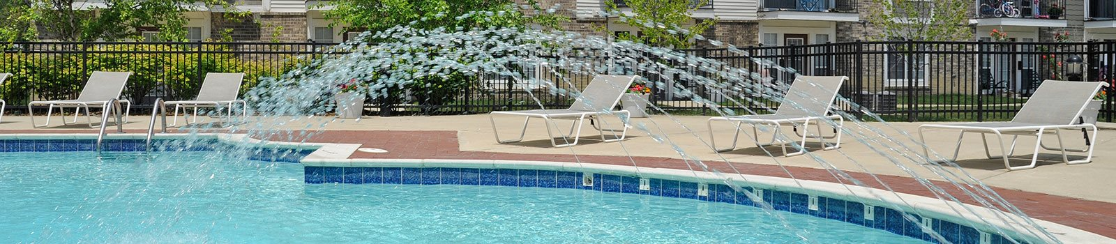 Pool Side Relaxing Area at Westlake Apartments, Belleville, 48111
