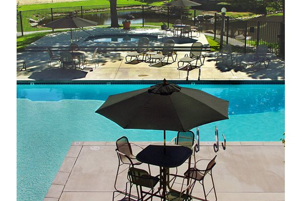 Image of our large heated pool at Cobble Creek Apartments near Holladay, UT