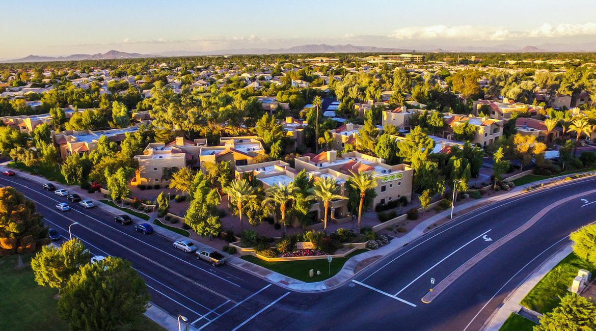 Arial Image of our Apartment Community at Towne Square