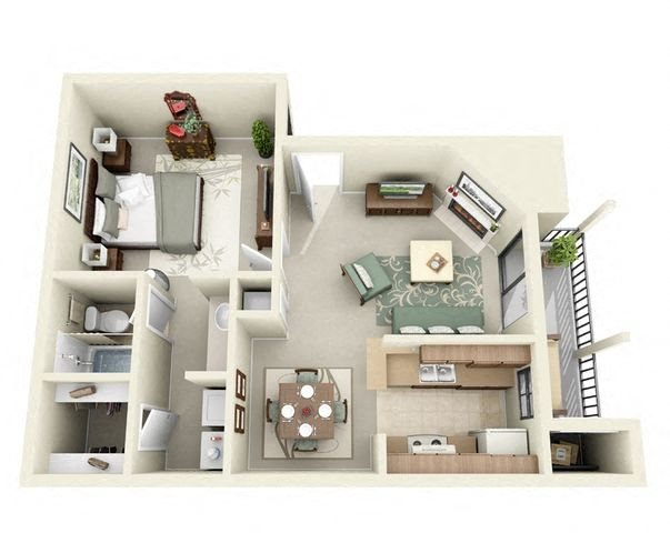 one bedroom apartments near me 76543
