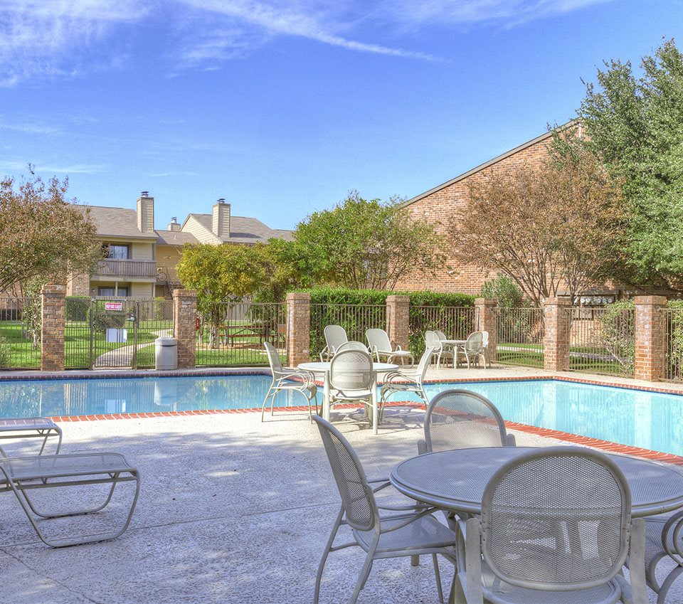 Poolside Sundeck at Apartments for Rent in in Killeen, Texas