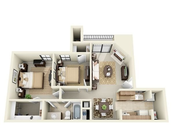 two bedroom apartments near me 76543