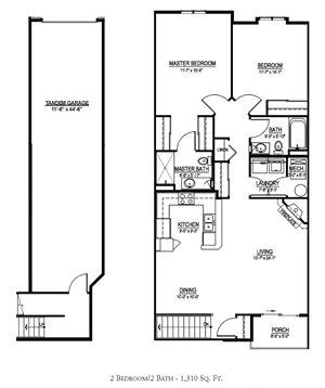 OC - 2 Bed, 2 Bath w/ Tandem 2 Car Garage - Upper Interior