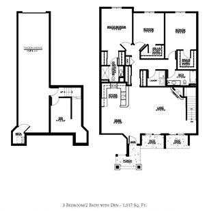 OC - 3 Bed, 2 Bath + Den w/ 1 Car Garage - Lower Interior