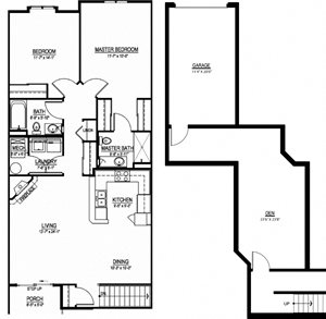 OC - 2 Bed, 2 Bath + Den w/ 1 Car Garage - Upper Interior