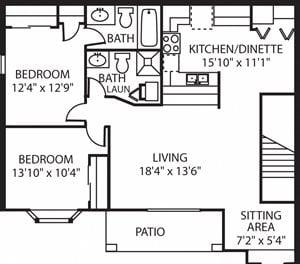 FXC - 2 Bed, 2 Bath Upper w/ Loft