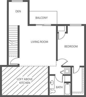 Creekside - 1 Bed + Den, 1 Bath Loft (Phase 2)