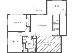 Creekside - 2 Bed + Den, 1 Bath Loft  (Phase 2)