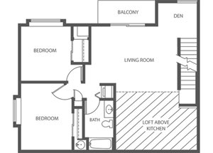 Park - 2 Bed + Den, 1 Bath Loft Upper (Phase 2)
