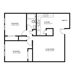 Garden - 2 Bed, 1 Bath Upper (Phase 1)