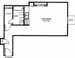 CS - Studio - 435sqft