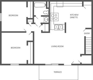 WF - 2 Bed, 1 Bath Upper