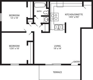 WF - 2 Bed, 1 Bath Lower