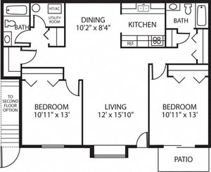 SF Mourning Dove (Phase I) - 2 Bed, 2 Bath - Upper or Lower