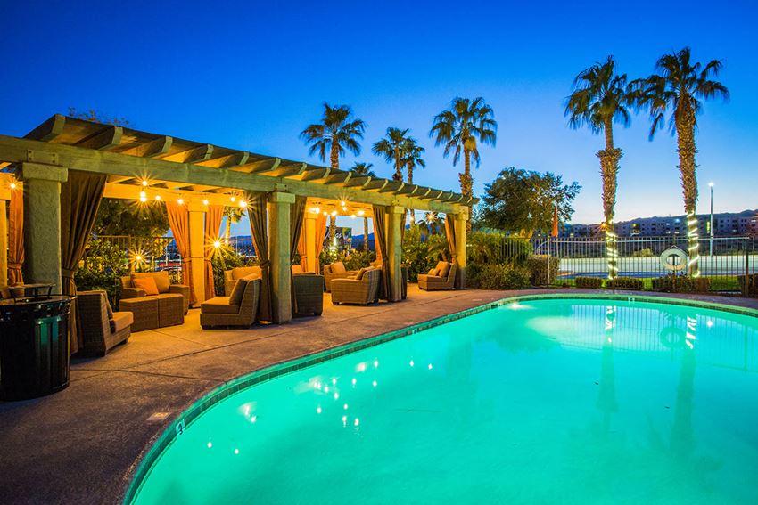 Heated Swimming Pool at Senior Apartments in Laughlin Nevada