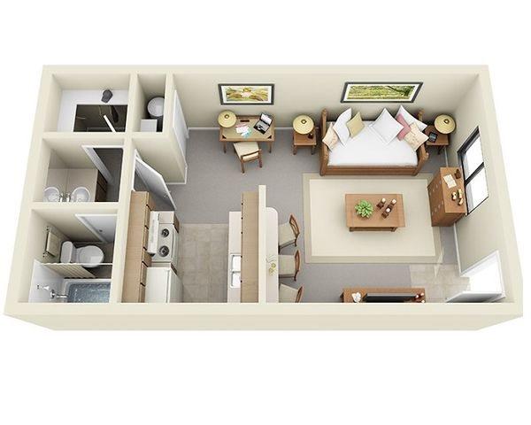 studio apartments at Saddle Ridge Apartments in Oro Valley near Tucson, AZ