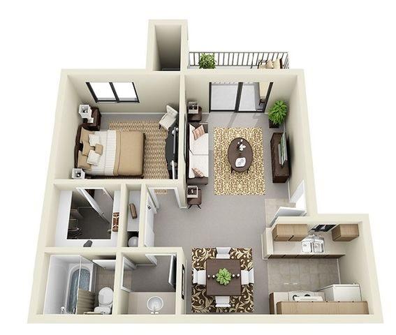 one bedroom apartments at Saddle Ridge Apartments in Oro Valley near Tucson, AZ