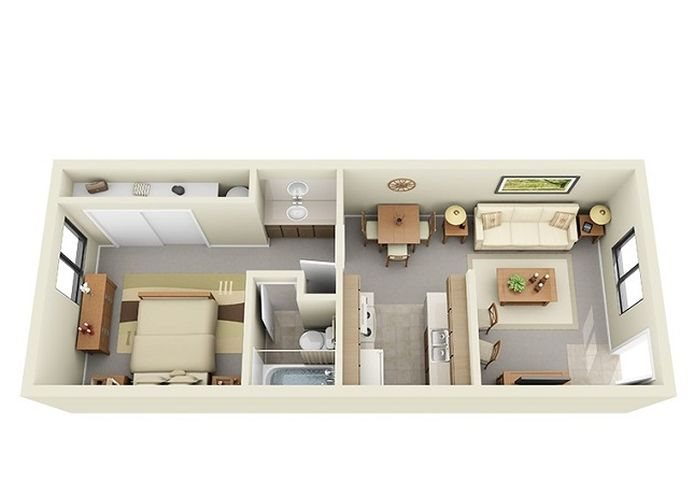 one bedroom apartment at Saddle Ridge Apartments in Oro Valley near Tucson, AZ