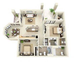 Ventana | 2 Bedroom 2 Bathroom Floor Plan