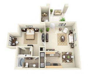 Esperero | 1 Bedroom 1 Bathroom Floor Plan