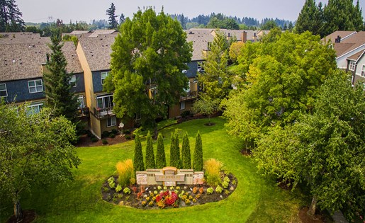 Aerial View of The Colonnade Apartments in Hillsboro Near Intel, Nike and Microsoft