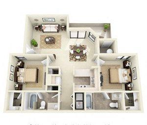Sterling | 2 Bedroom 2 Bathroom Floor Plan
